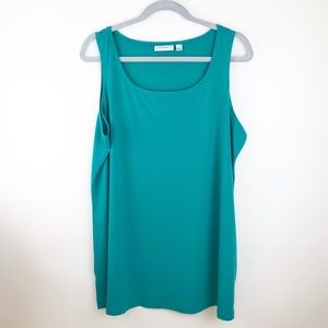 Susan Graver ~ Emerald Green Tank Top Cami Size XL
